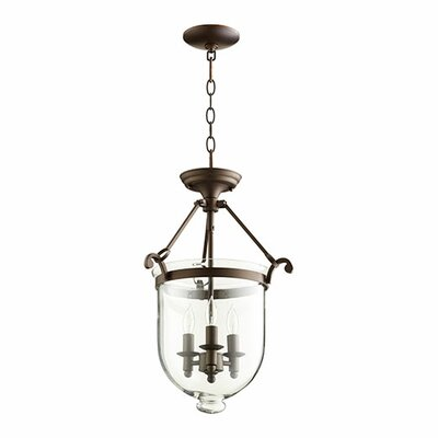 3-Light Foyer Pendant Finish: Oiled Bronze