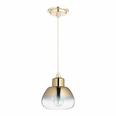 1-Light Mini Pendant Finish: Satin Gold/Light Gold Ombre