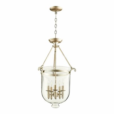 5-Light Foyer Pendant Finish: Aged Silver Leaf