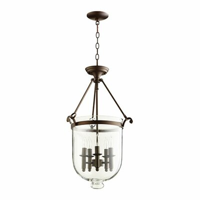 5-Light Foyer Pendant Finish: Oiled Bronze