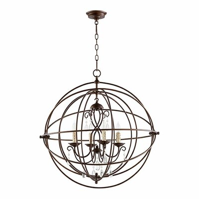 Cilia 4-Light Globe Pendant Finish: Oiled Bronze