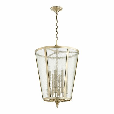 8-Light Foyer Pendant Finish: Aged Silver Leaf