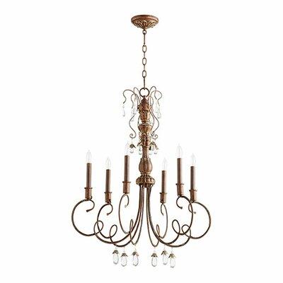 Jaune 6-Light Candle-Style Chandelier Finish: Vintage Copper