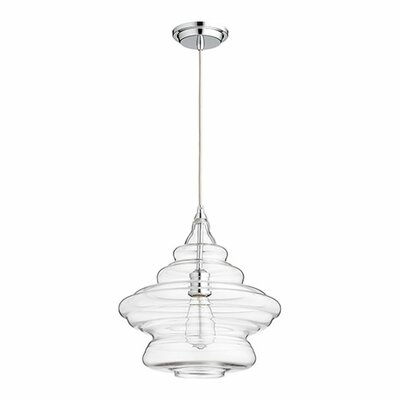 1-Light Mini Pendant Finish: Chrome, Shade Color: Clear