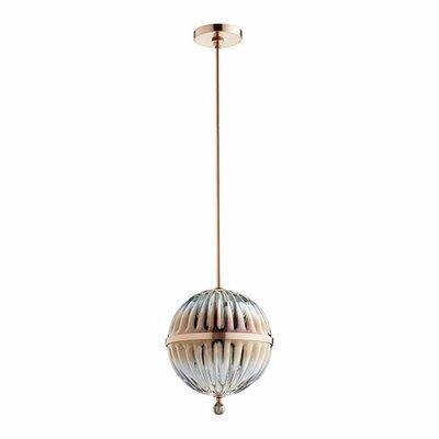 1-Light Globe Pendant Size: 14 H x 10 W x 10 D