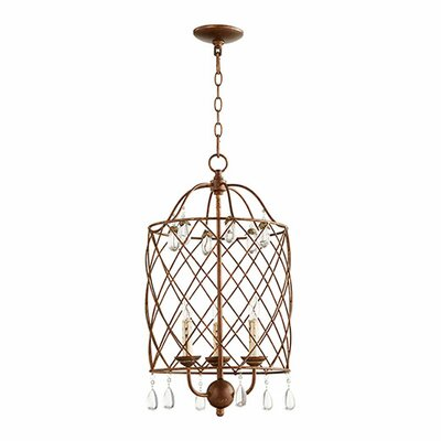 Jaune 3-Light Foyer Pendant Finish: Vintage Copper