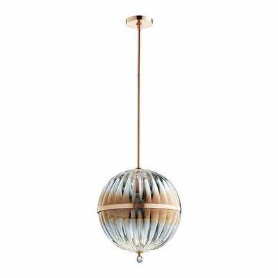 1-Light Globe Pendant Size: 18 H x 14 W x 14 D