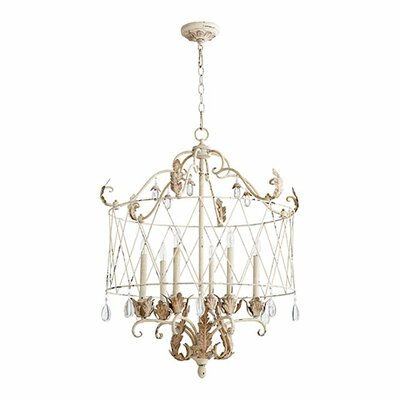 Venice 6-Light Pendant Finish: Persian White