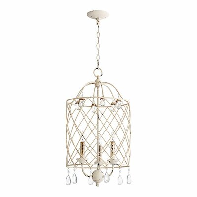 Jaune 3-Light Foyer Pendant Finish: Persian White