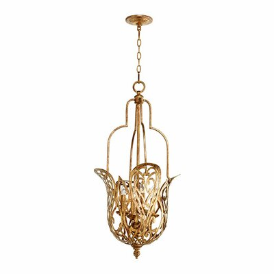 Le Monde 4-Light Pendant Finish: Vintage Gold Leaf