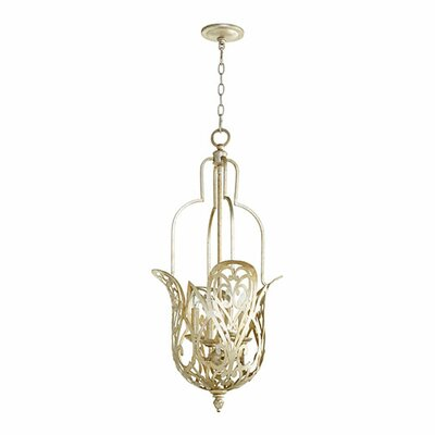 Le Monde 4-Light Pendant Finish: Aged Silver Leaf