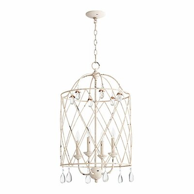 Jaune 4-Light Foyer Pendant Finish: Persian White