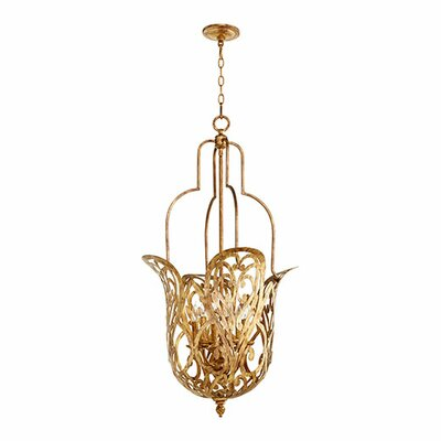 Le Monde 6-Light Pendant Finish: Vintage Gold Leaf