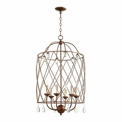 Jaune 6-Light Foyer Pendant Finish: Vintage Copper