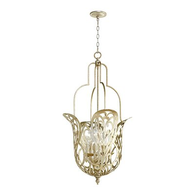 Le Monde 6-Light Pendant Finish: Aged Silver Leaf
