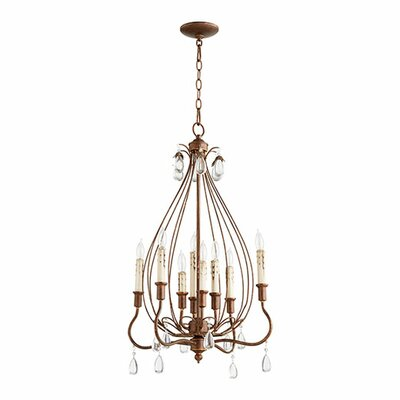 Jaune 8-Light Candle-Style Chandelier Finish: Vintage Copper