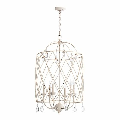 Jaune 6-Light Foyer Pendant Finish: Persian White