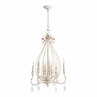 Jaune 8-Light Candle-Style Chandelier Finish: Persian White