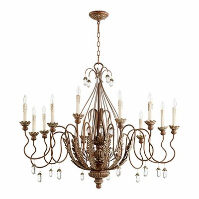 Venice 12-Light Candle-Style Chandelier Finish: Vintage Copper