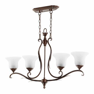 Harnois 4-Light Kitchen Island Pendant Finish: Vintage Copper