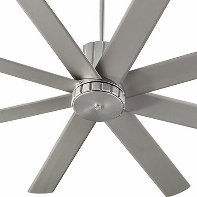 60 Proxima 8 Blade Ceiling Fan Finish: Satin Nickel