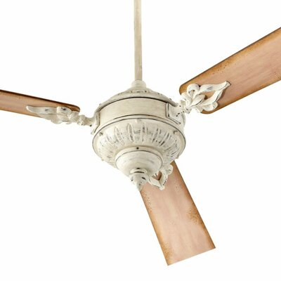 60 Brewster 3-Blade Ceiling Fan Finish: Persian White with Weathered Pine Blades
