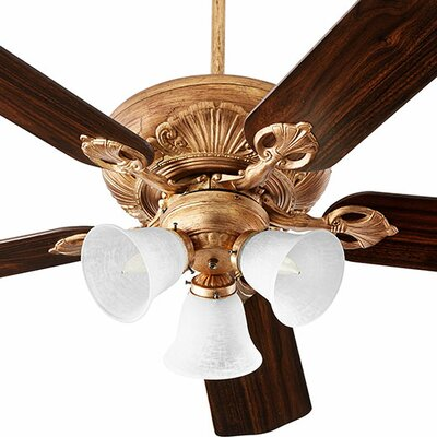 52 Chateaux 5-Blade Ceiling Fan Finish: Vintage Gold Leaf