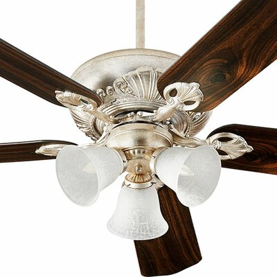 52 Chateaux 5-Blade Ceiling Fan Finish: Aged Silver Leaf