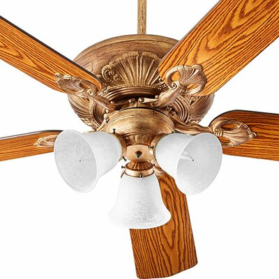 60 Chateaux 5-Blade Ceiling Fan Finish: Vintage Gold Leaf