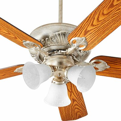 60 Chateaux 5-Blade Ceiling Fan Finish: Aged Silver Leaf