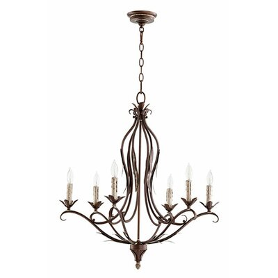 Flora 6-Light Candle-Style Chandelier Finish: Vintage Copper