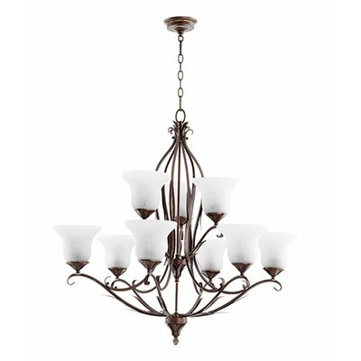 Flora 9-Light Shaded Chandelier Finish: Vintage Copper
