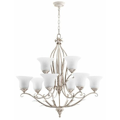 Flora 9-Light Shaded Chandelier Finish: Persian White