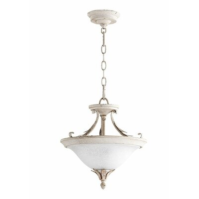 Harnois 2-Light Bowl Pendant Finish: Persian White