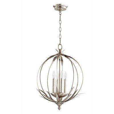 Flora 4-Light Globe Pendant Finish: Aged Silver Leaf