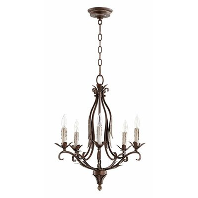 Flora 5-Light Candle-Style Chandelier Finish: Vintage Copper