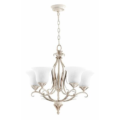 Flora 5-Light Shaded Chandelier Finish: Persian White