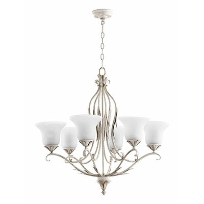 Flora 6-Light Shaded Chandelier Finish: Persian White