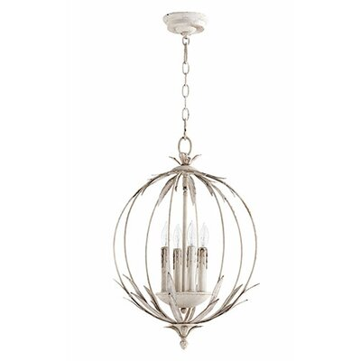 Flora 4-Light Globe Pendant Finish: Persian White