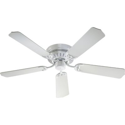 52 5-Blade Custom Hugger Ceiling Fan Finish: White with White Blades