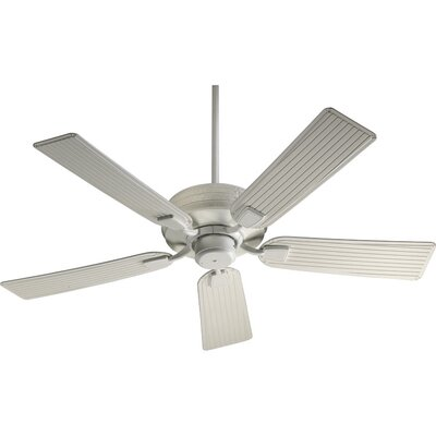 52 Metro 5-Blade Ceiling Fan Finish: Studio White