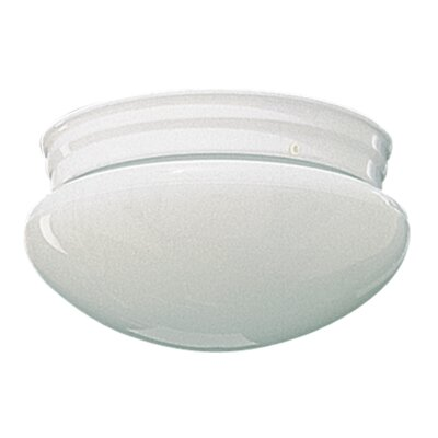 Plain Mushroom Flush Mount Size: 4.25 H x 6.75 W, Finish: White