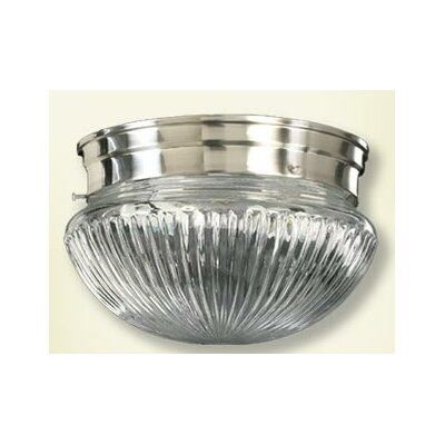 Ribbed Mushroom Flush Mount Finish: Satin Nickel, Size: 5.5 H x 9.5 W