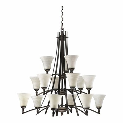 Eastchester Modern 15-Light Shaded Chandelier