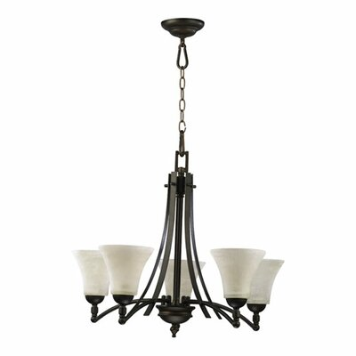 Eastchester 5-Light Glass Shaded Chandelier