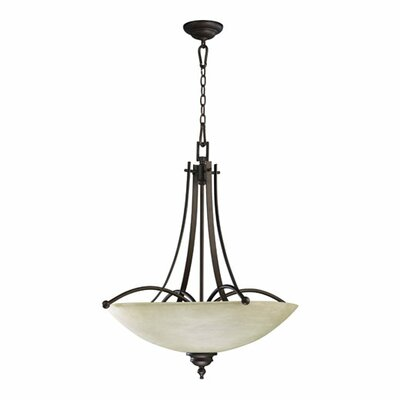 Eastchester 5-Light Inverted Pendant Finish: Oiled bronze