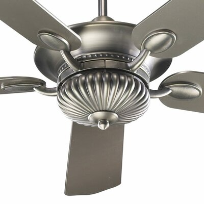 52 Bakersfield 5-Blade Ceiling Fan Finish: Antique Silver with Antique Silver / Walnut Blades