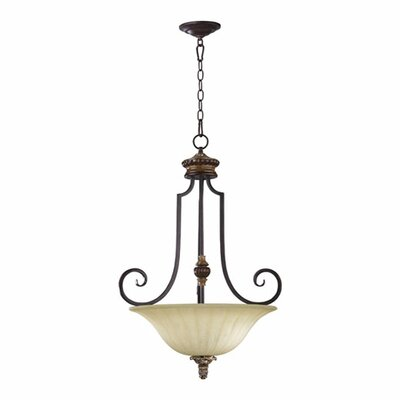 Capella Inverted Pendant Size: 30.25 H x 22 W