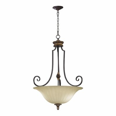 Capella Inverted Pendant Size: 36.25 H x 27 W
