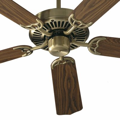42 Capri 5-Blade Ceiling Fan Finish: Antique Brass with Medium / Dark Oak Blades